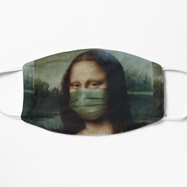 Mona Lisa funny Art Pandemic Style Graphic Design. Mask
