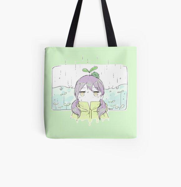 Rainy All Over Print Tote Bag