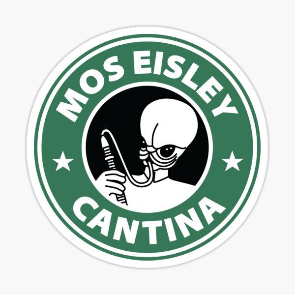 Mos Eisley Cantina Starbucks Mashup Sticker