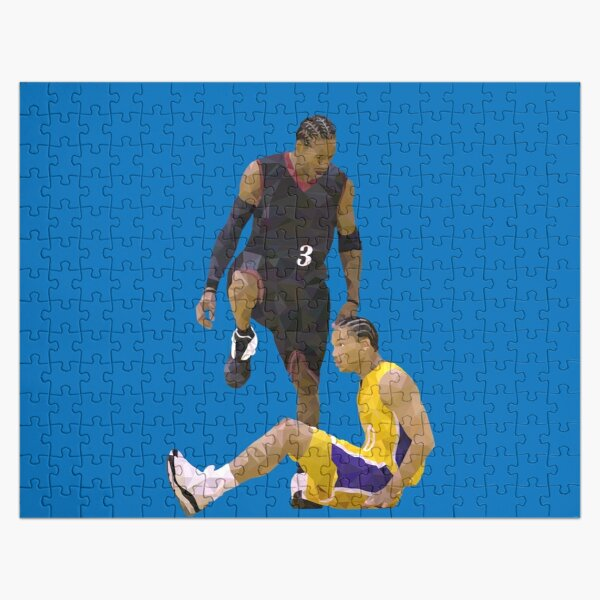 Allen Iverson Steps Over Tyronn Lue Low Poly Jigsaw Puzzle