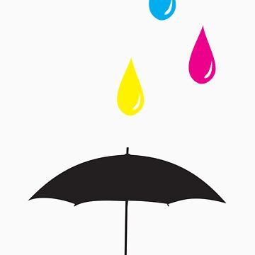 CMYK Rain by oskardahlbom