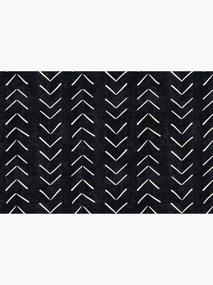 Mud Cloth Big Arrows in Black and White by beckybailey