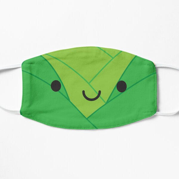 Kawaii Brussels Sprout / Cabbage Flat Mask