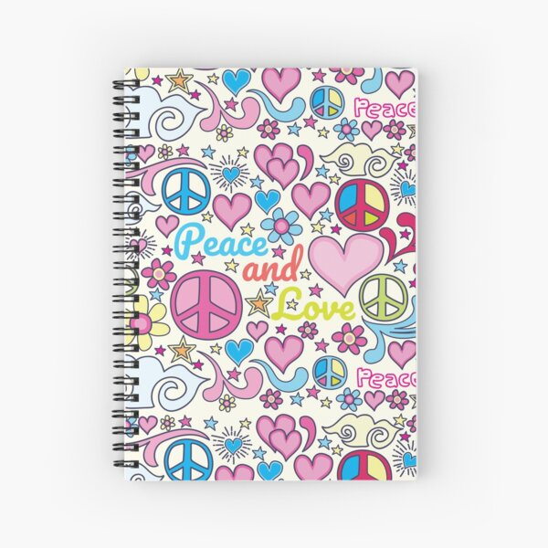 Peace and Love Design Spiral Notebook