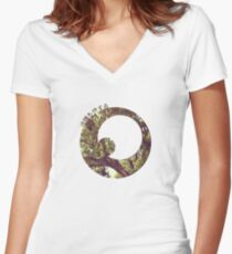 Branch Out Women's Fitted V-Neck T-Shirt