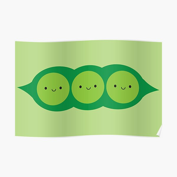 Kawaii Peas in a Pod Poster