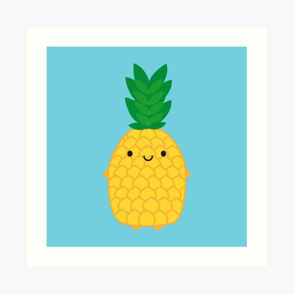 Kawaii Pineapple Art Print