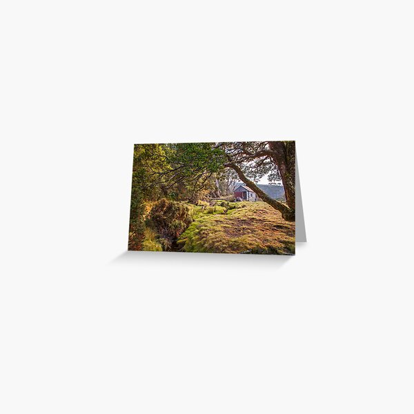 Barn  Bluff Hut - Waterfall Valley Overland Track Greeting Card