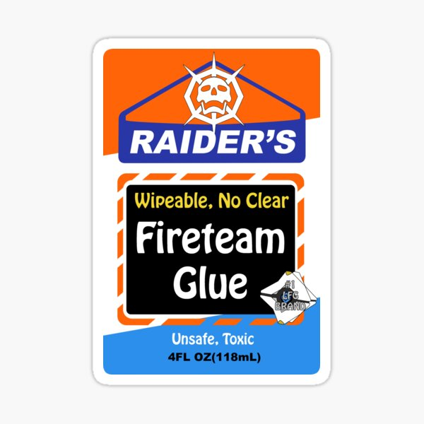 Raider's Glue Sticker