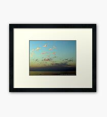 Circling Clouds. Framed Print
