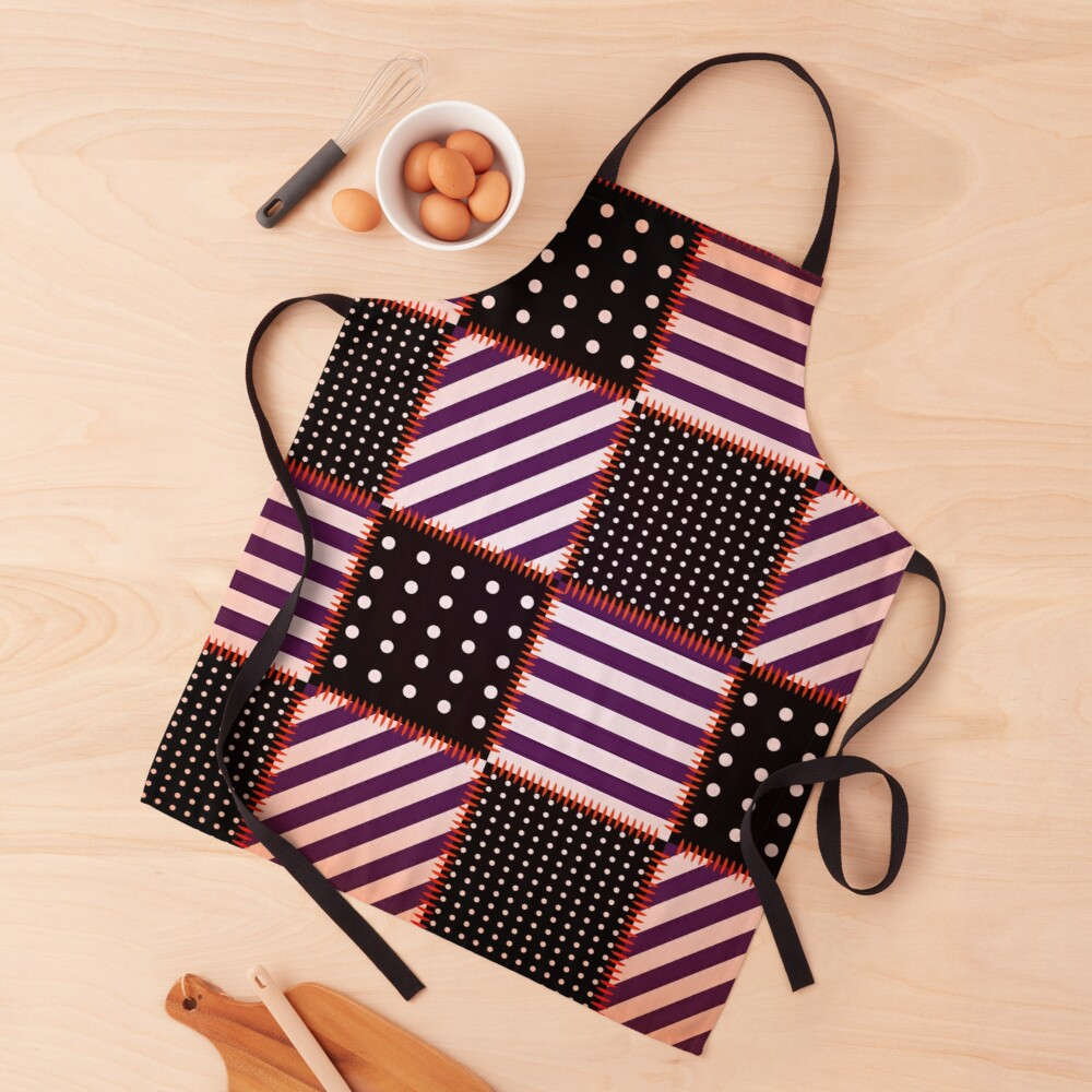 Chic Modern and Eelgant Retro Fashion Decorative Patchwork Apron