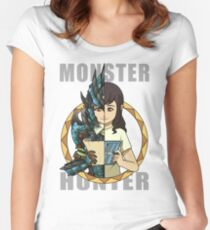 Hunter's Life (Azure Rathalos G) (F) Women's Fitted Scoop T-Shirt