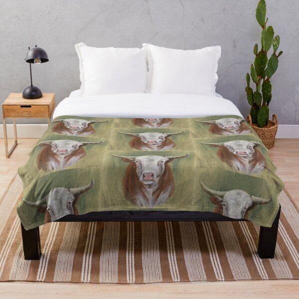 Hereford Bull Throw Blanket