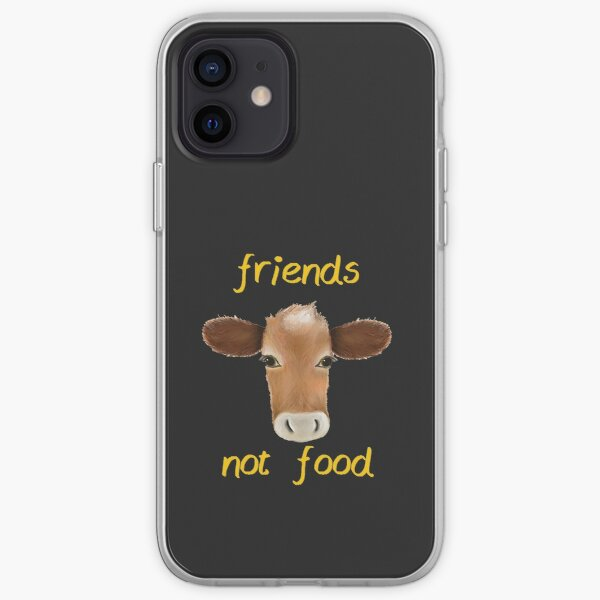 Friends not food cow iPhone Soft Case