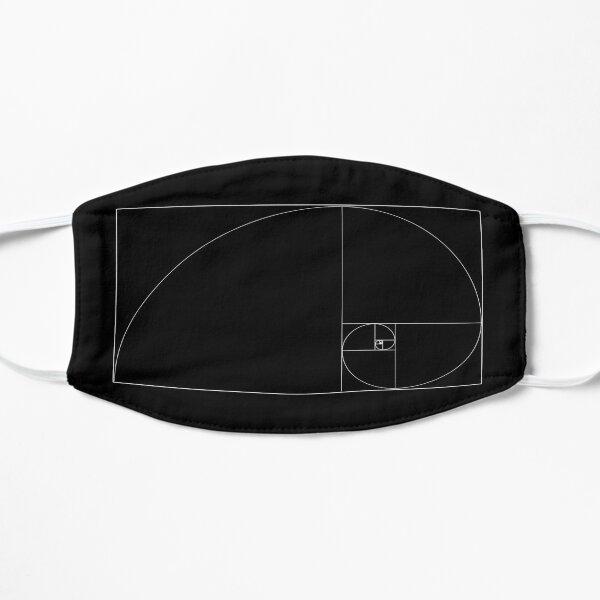 Golden Ratio - Phi - Black Flat Mask