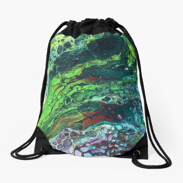 Green Envy Drawstring Bag
