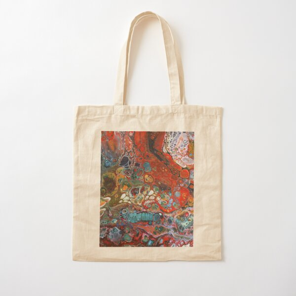 A Symphony of Cells - red Cotton Tote Bag