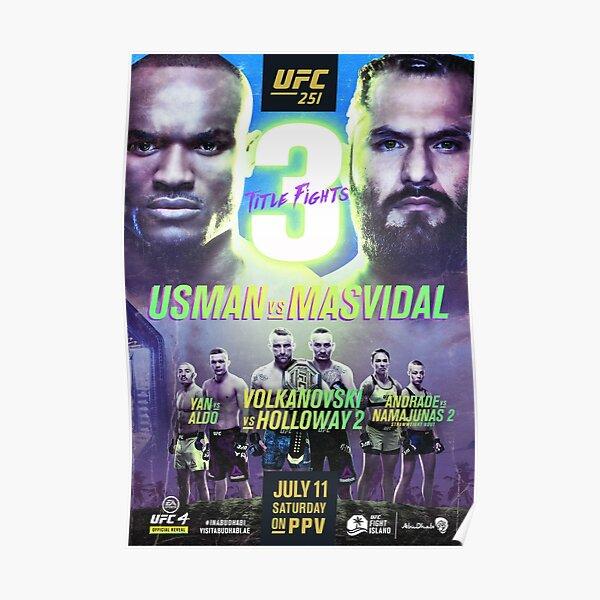 UFC 251 OFFICIAL: Masvidal Vs Usman Poster