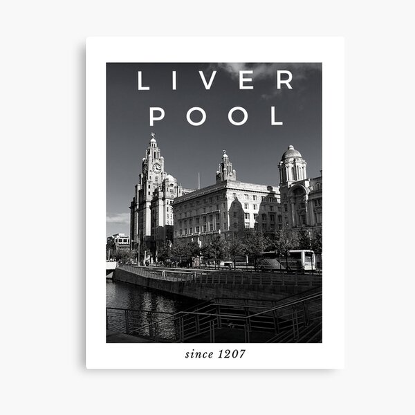 Liverpool Waterfront (White) Canvas Print