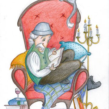 Don Quichot is reading his chivalry books by mimmam