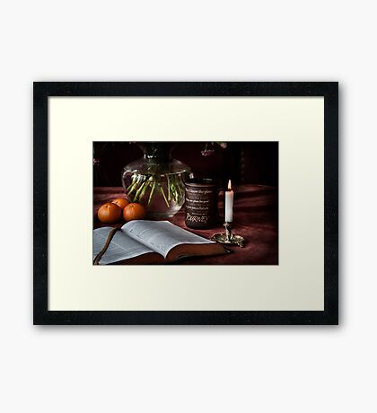 Thy Word is Light and Life Framed Print