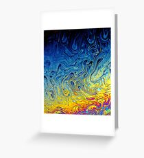 Ink Stained Bubble Photograph Greeting Card