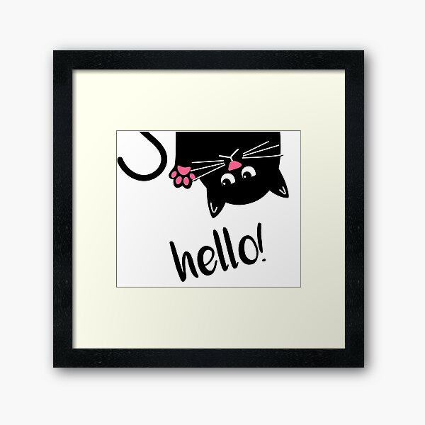 Cat Lover Kitty Pink Paws  Framed Art Print