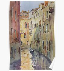 Streets and canals of Venice Poster