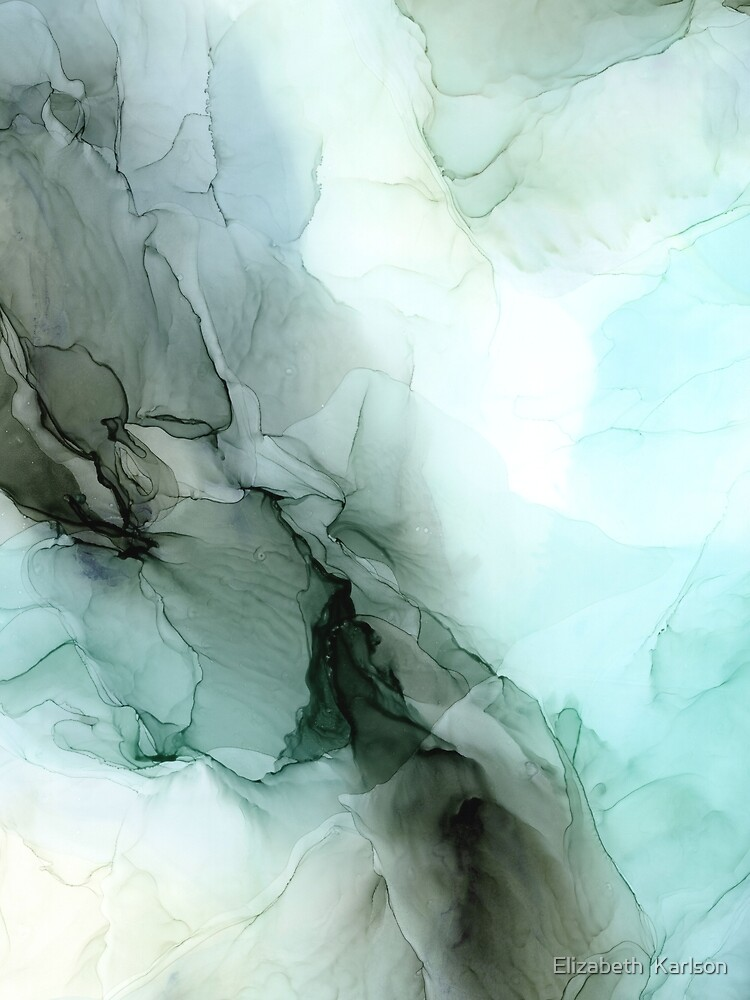 Calm Nature Inspired Abstract Flow Landscape Painting by LSchulz19