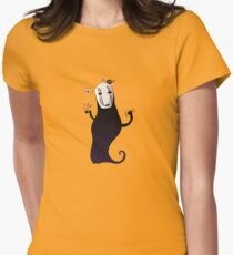 no face is funny Womens Fitted T-Shirt