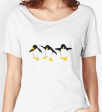 Three dancing Penguins Women's Relaxed Fit T-Shirt
