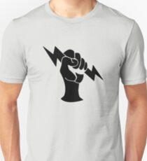Bioshock Infinite Shock Jockey Vigor [Black on White] Unisex T-Shirt
