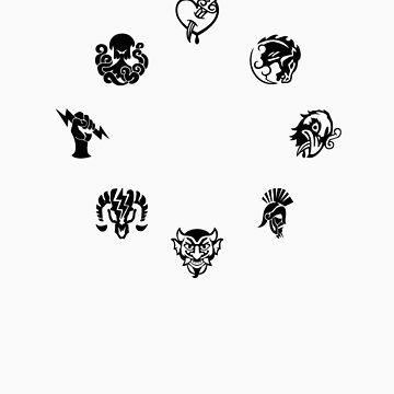 Bioshock Infinite Vigors [Black on White/Circle] by TitanVex