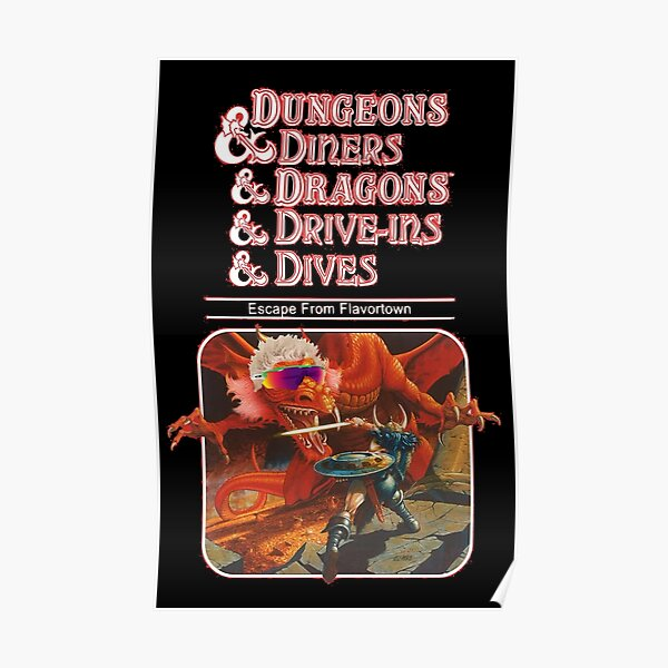 Dungeons & Diners & Dragons & Drive-Ins & Dives: Escape from Flavortown Poster