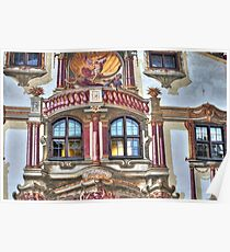 Pilate's House Detail - Oberammergau - Germany Poster