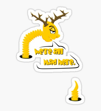 Worm with Horns VRS2 Sticker