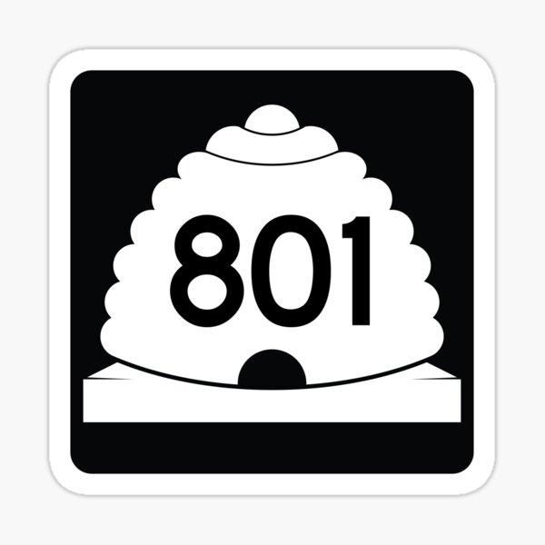 Utah State Route 801 (Area Code 801) Sticker
