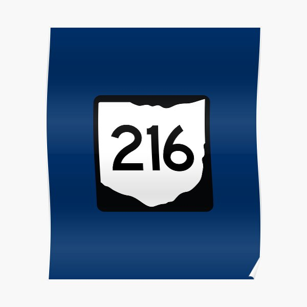 Ohio State Route 216 (Area Code 216) Poster