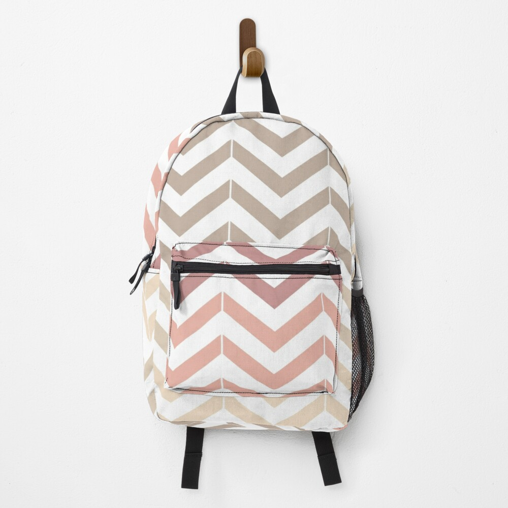 Small pink and beige waves Backpack