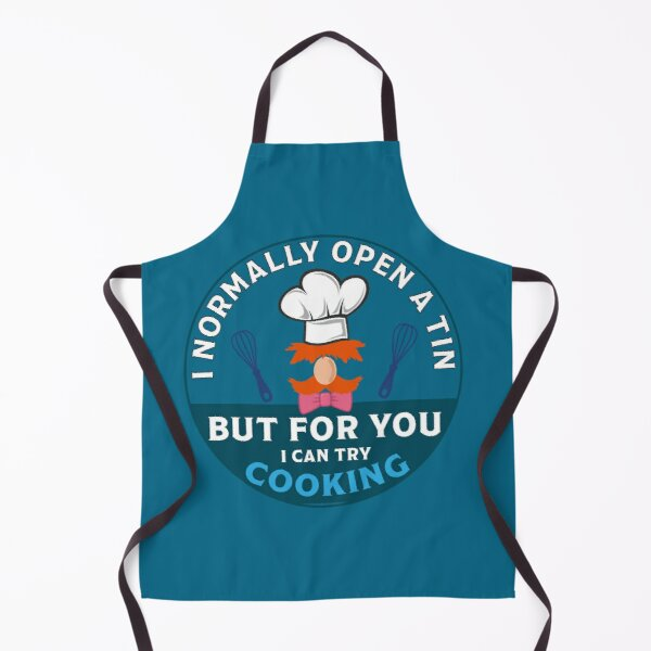 Hurdy Gurdy Bork Bork Microwave Chef - Bad Cook Apron Gifts - Lazy Cooks - Funny Swedish Chef Apron