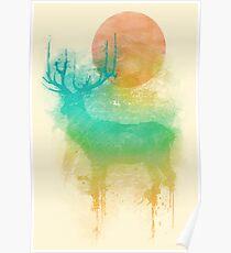 Color Drop - Deer Poster