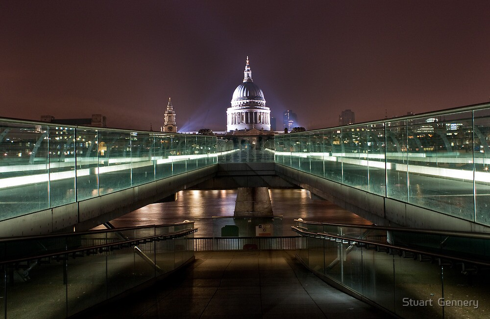 St.Paul's from the Millenium Bridge by Stuart  Gennery