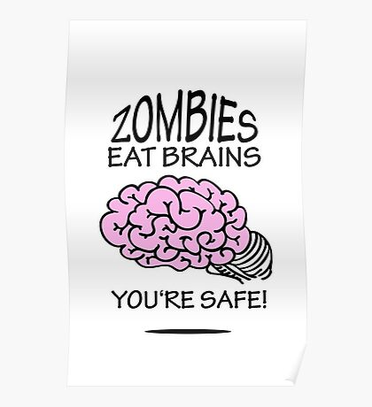 Zombies eat Brains VRS2 Poster