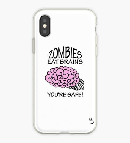 Zombies eat Brains VRS2 iPhone Case