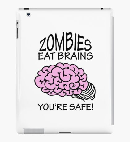 Zombies eat Brains VRS2 iPad Case/Skin