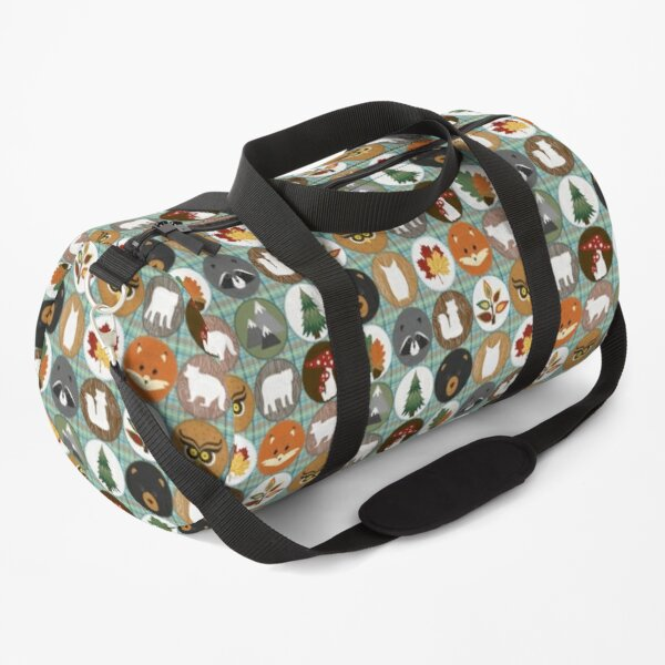 Woodland Cheater Quilt Pattern Duffle Bag