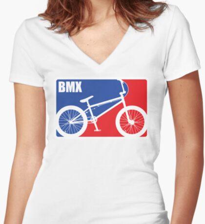 BMX Women's Fitted V-Neck T-Shirt