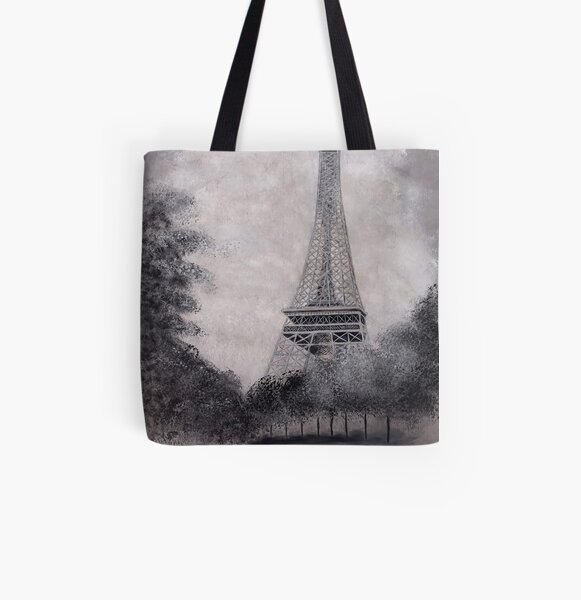 Eiffel Tower All Over Print Tote Bag