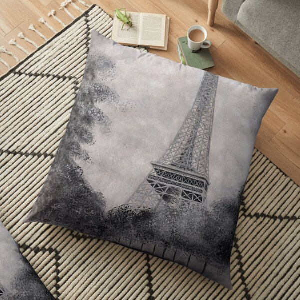 Eiffel Tower Floor Pillow