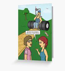 Keep On Truckin' (Truckie Wheelchair) Greeting Card